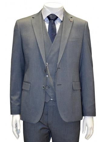 Серый костюм тройка