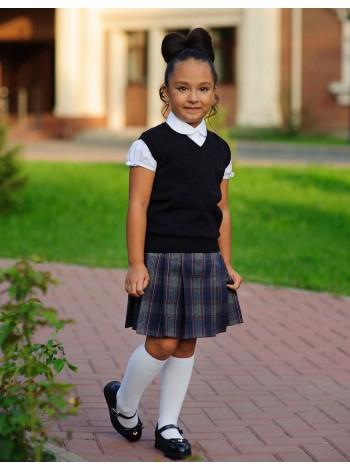 Школьная юбка из ткани - шотландка